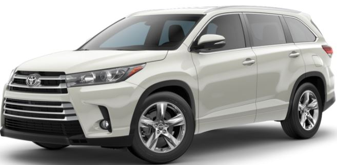 2018 Toyota Highlander Blizzard Pearl