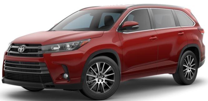 2018 Toyota Highlander Salsa Red Pearl