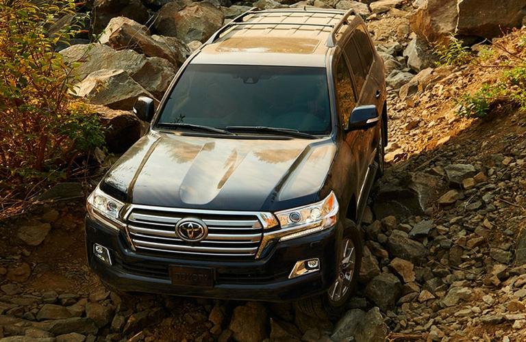 2018 Toyota Land Cruiser driving on terrain