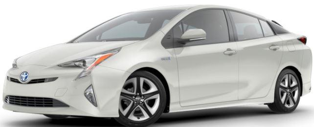 2018 Toyota Prius Blizzard Pearl
