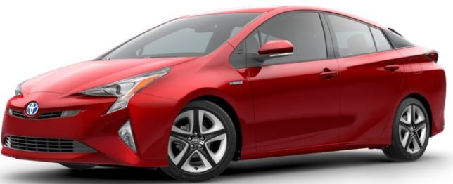 2018 Toyota Prius Hypersonic Red