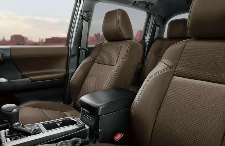 2018 Toyota Tacoma Seats Interior Front View.
