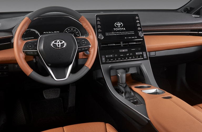 2019 Toyota Avalon steering wheel and dash.