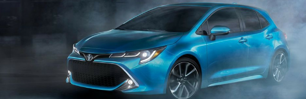 2019 Toyota Corolla Hatchback parked outside
