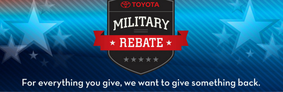 Toyota military rebate banner