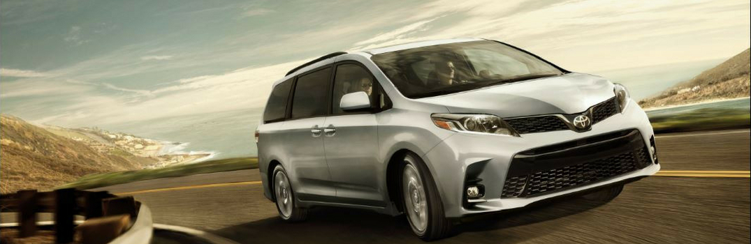 2019 Toyota Sienna driving on a road