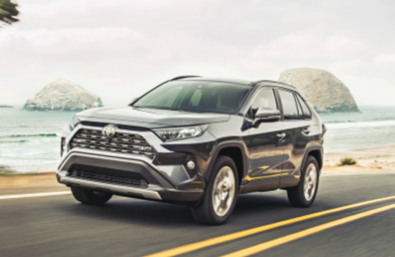 2019 Toyota RAV4 driving on a road