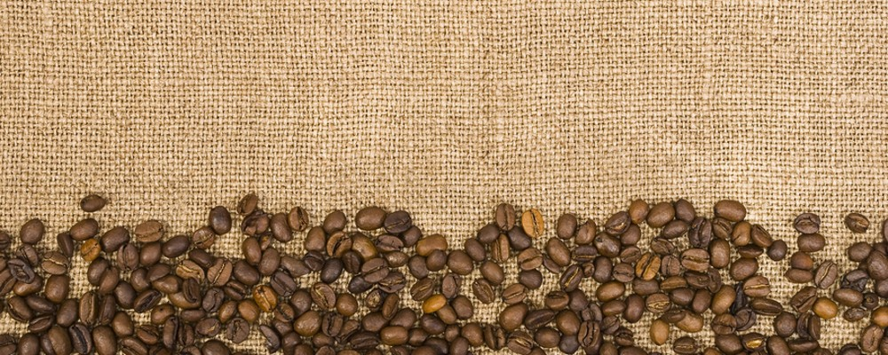 coffee beans and sackcloth