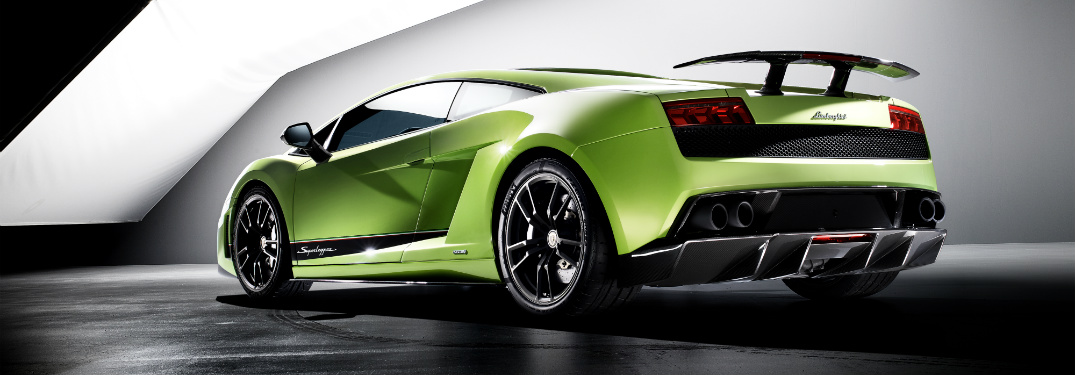 Lamborghini Gallardo green back side view