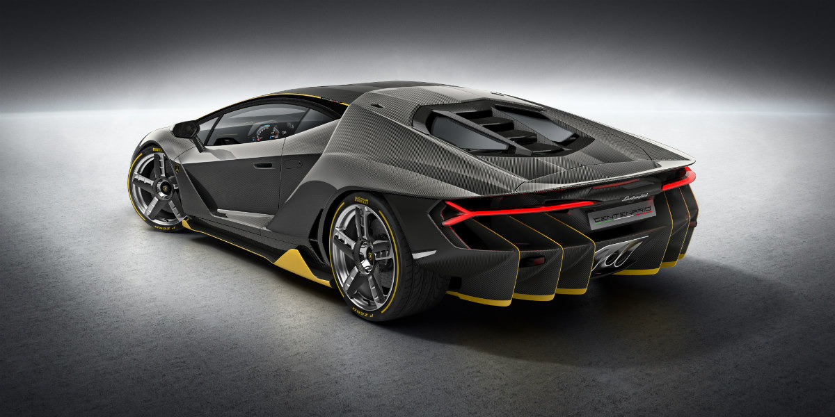 Lamborghini Centenario One Off Rear Side View O Lamborghini Palm Beach