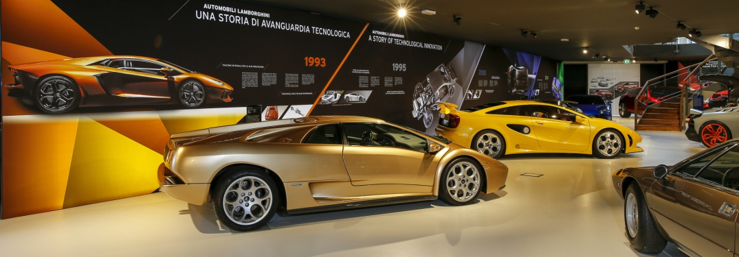 Lamborghini Museum historical models exhibit
