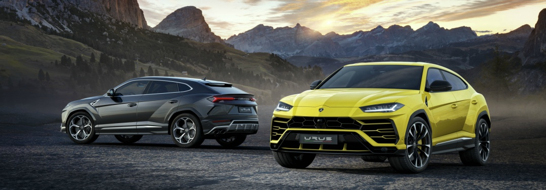 Lamborghini Urus in yellow and black side by side