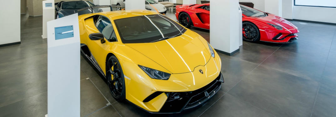 Lamborghini Huracan and Aventador S side by side