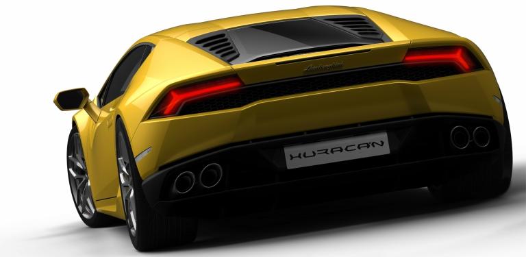 Lamborghini Huracan Yellow Back View O Lamborghini Palm Beach