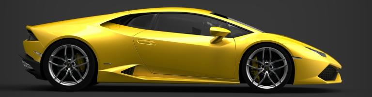 Lamborghini side view