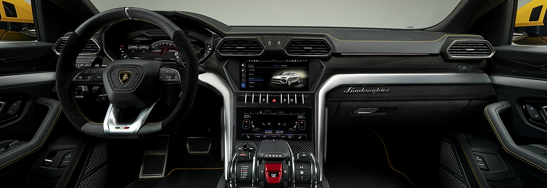 Lamborghini Urus interior overview front black