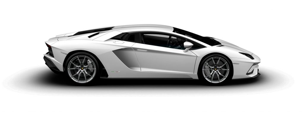 Lamborghini Aventador S Coupe Gloss Bianco Isi Side View O