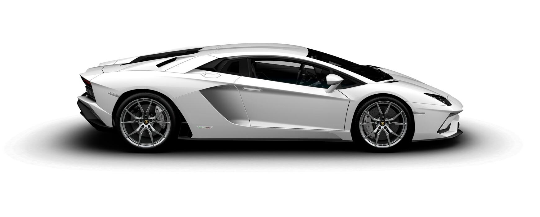 Lamborghini Aventador S Coupe gloss Bianco Isi side view
