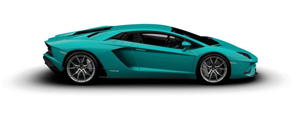 Lamborghini Aventador S Coupe Gloss Blu Glauco Side View O