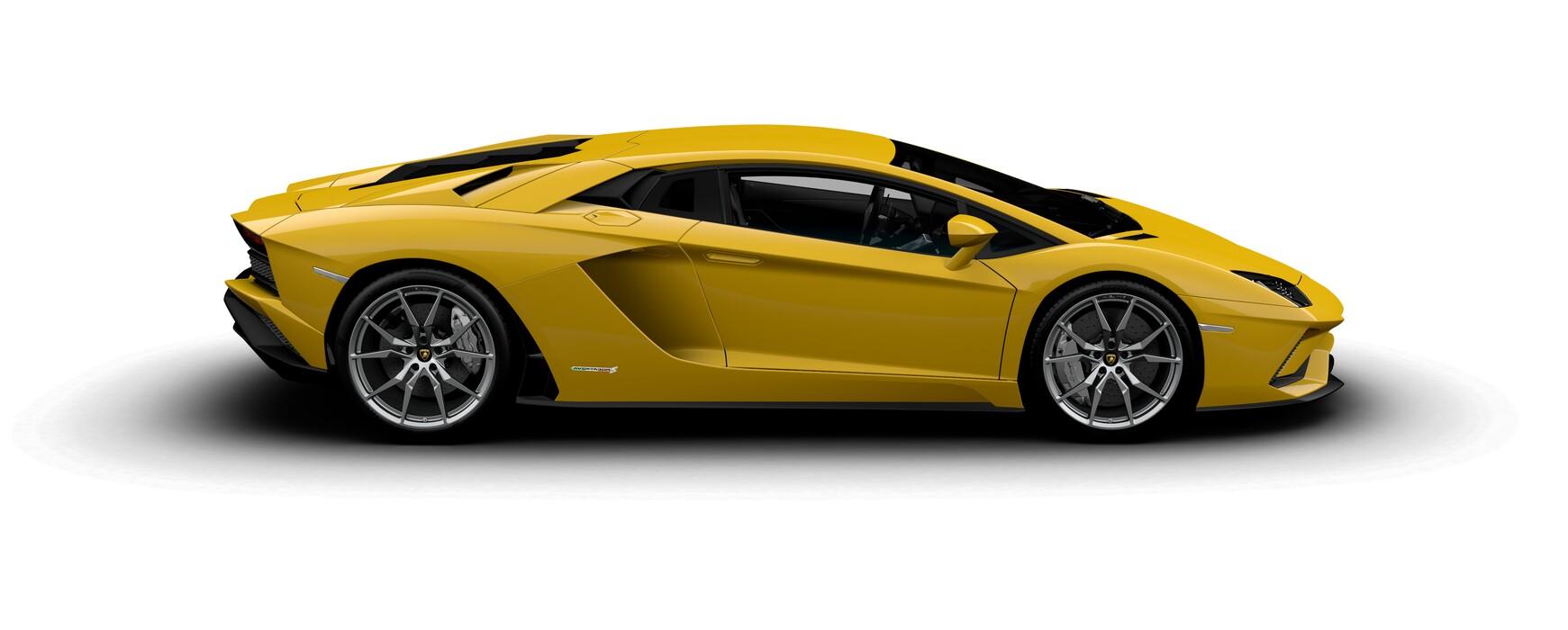 Lamborghini Aventador S Coupe gloss Giallo Evros side view