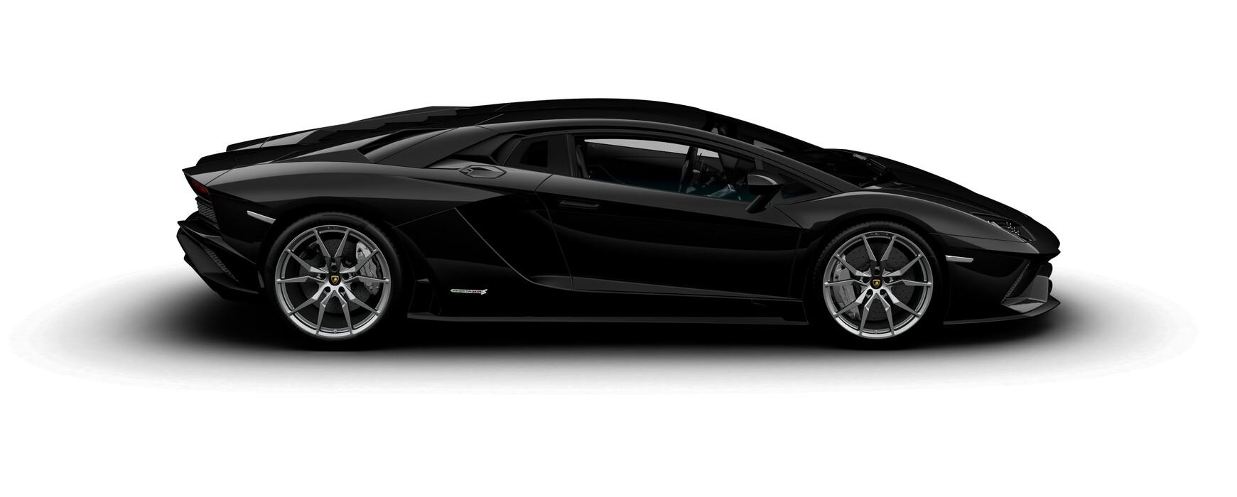 Lamborghini Aventador S Coupe gloss Nero Aldebaran side view