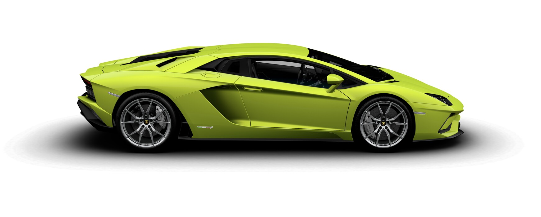 Lamborghini Aventador S Coupe gloss Verde Scandal side view