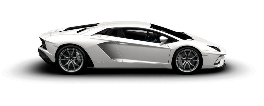 Lamborghini Aventador S Coupe Matte Bianco Canopus Side