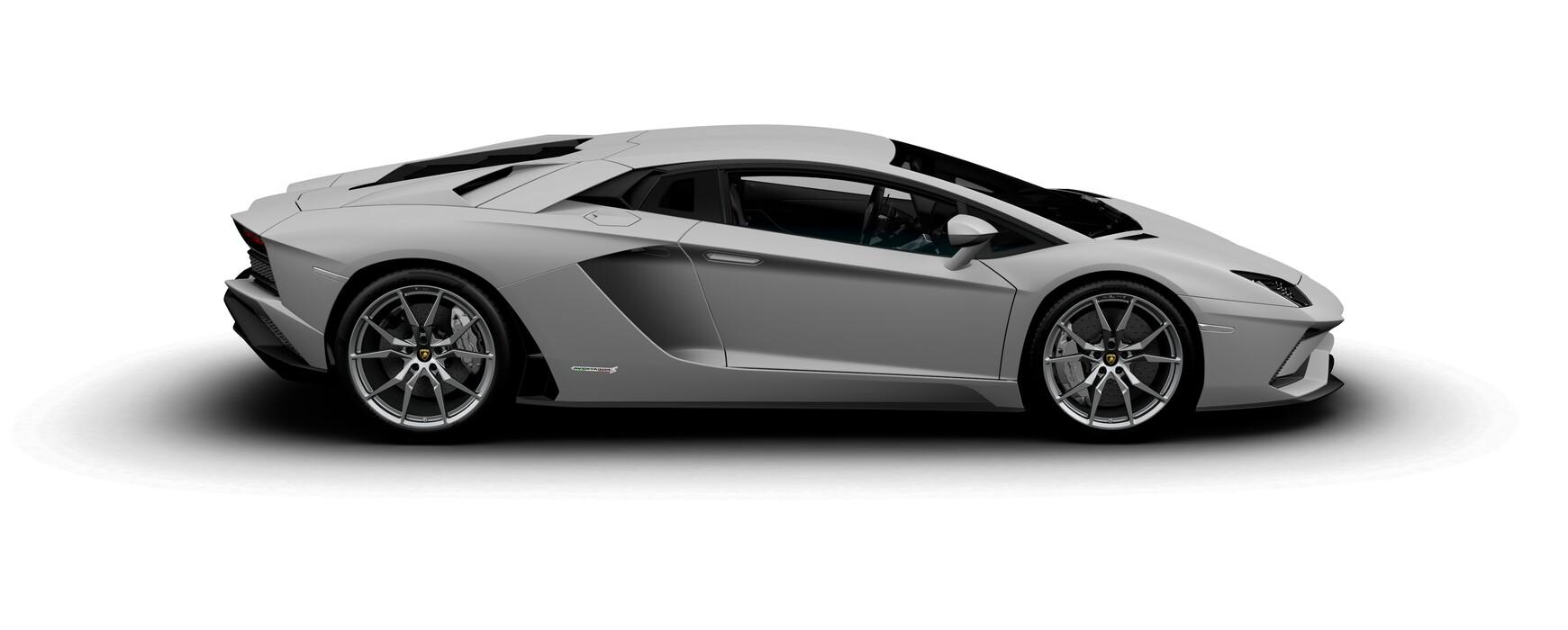 Lamborghini Aventador S Coupe matte Grigio Adamas side view
