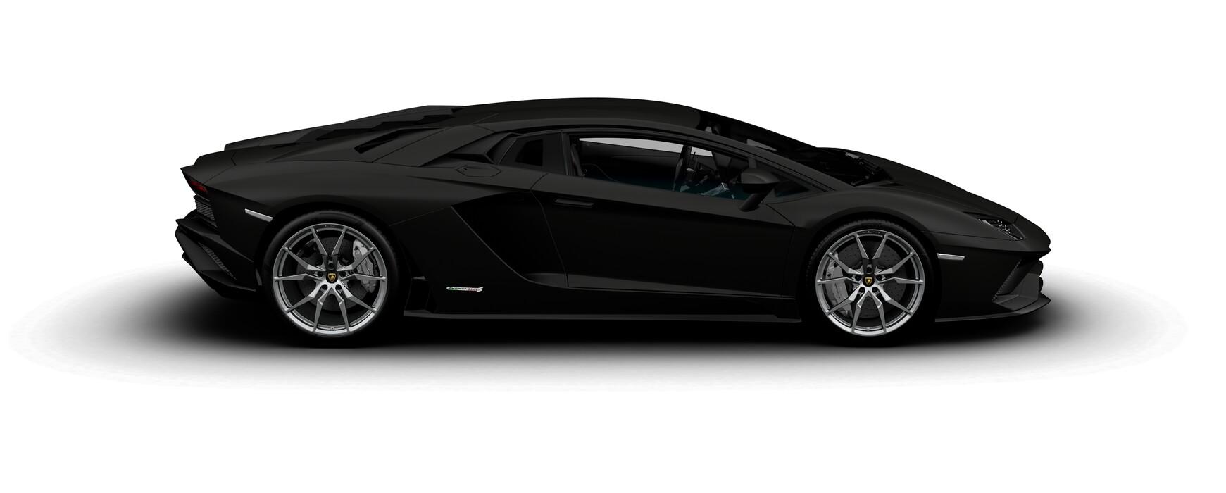 Lamborghini Aventador S Coupe matte Nero Nemesis side view