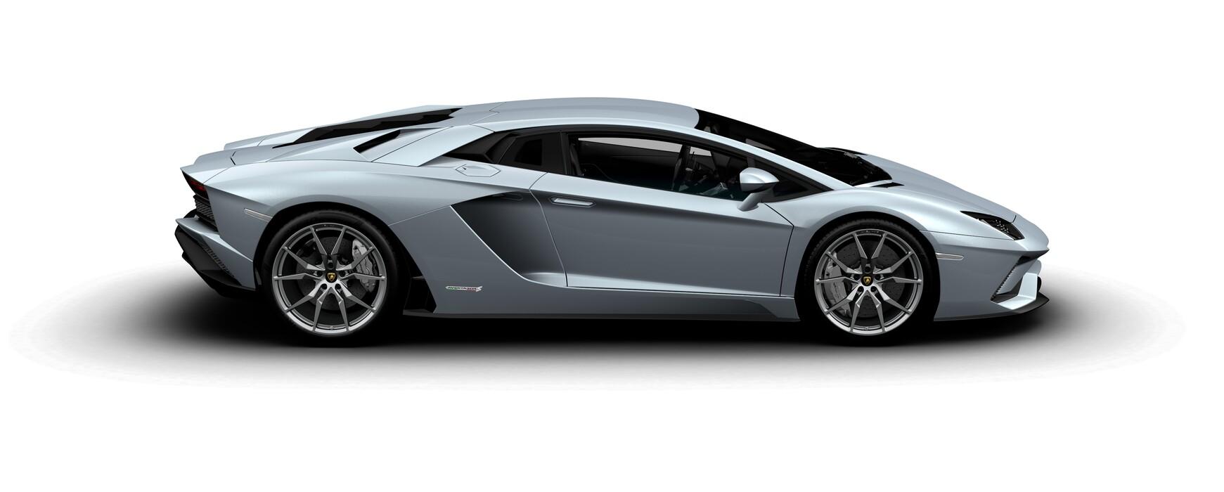 Lamborghini Aventador S Coupe metallic Azzurro Thetys side view