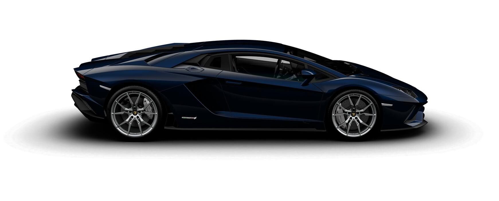 Lamborghini Aventador S Coupe metallic Blu Fontus side view