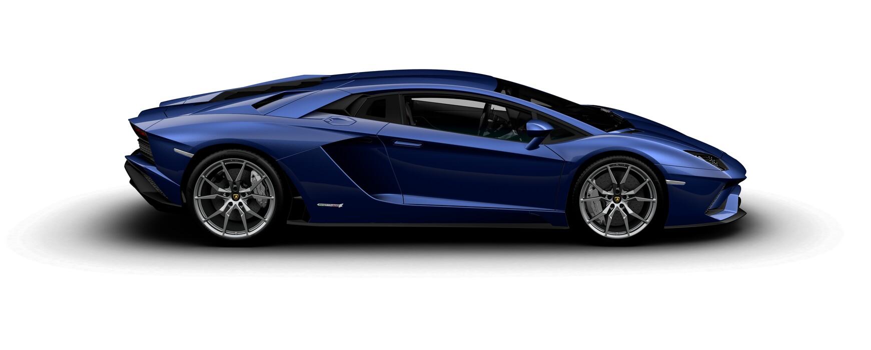 Lamborghini Aventador S Coupe metallic Blue Caelum side view