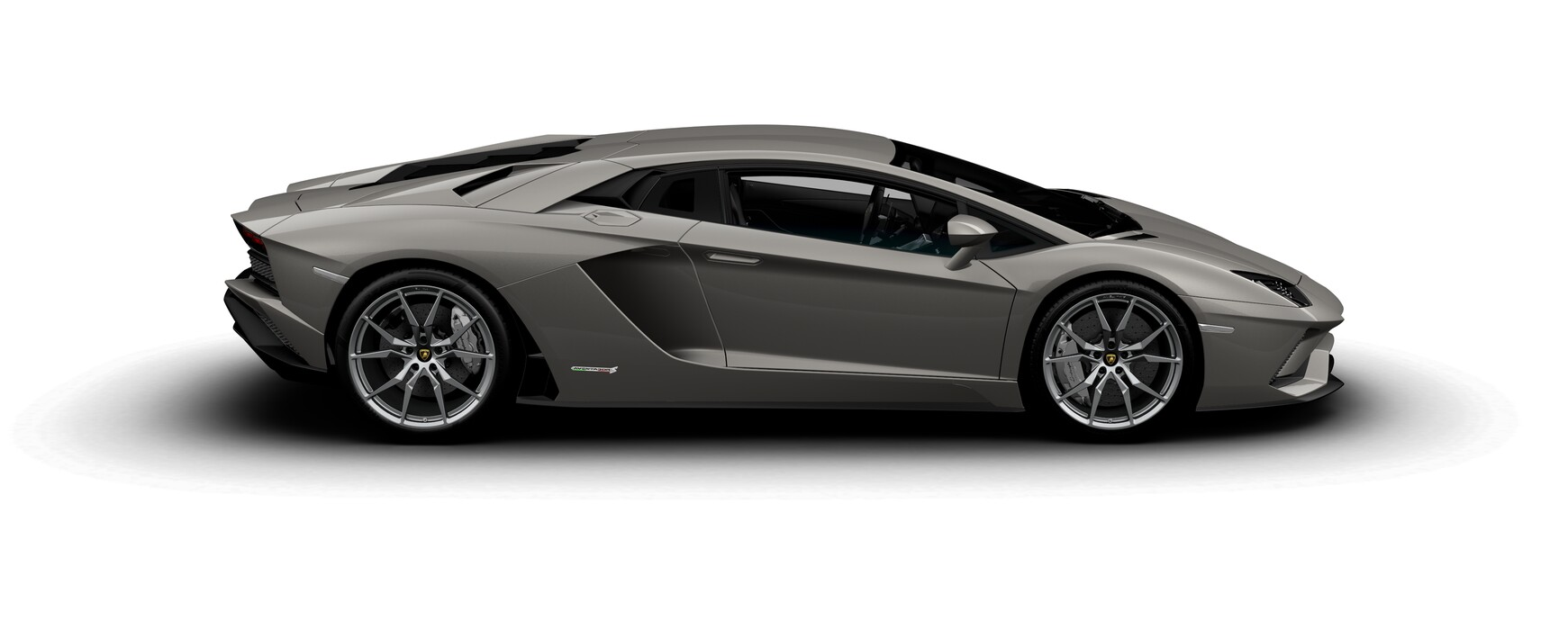 Lamborghini Aventador S Coupe metallic Grigio Antares side view