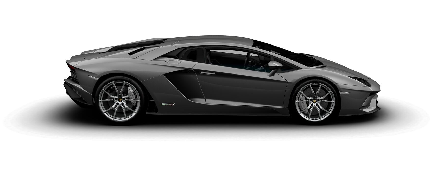 Lamborghini Aventador S Coupe metallic Grigio Estoque side view