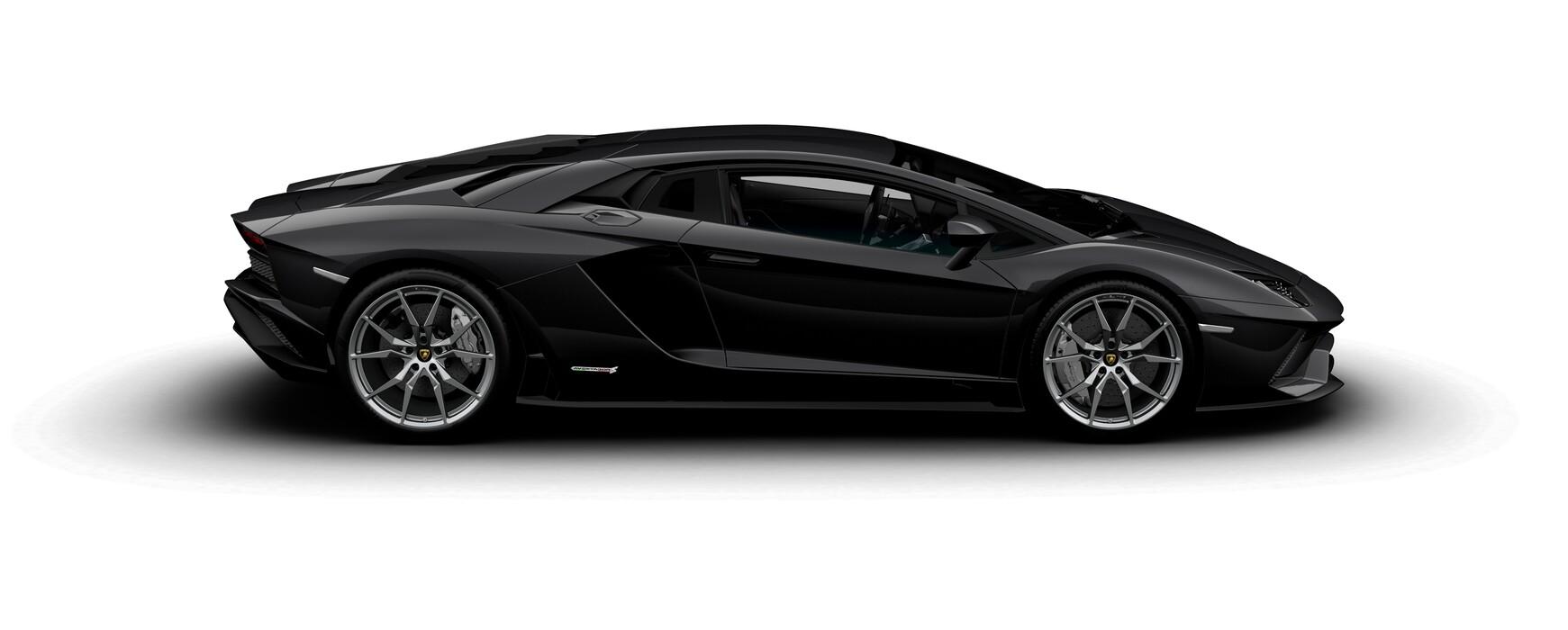 Lamborghini Aventador S Coupe metallic Nero Pegaso side view