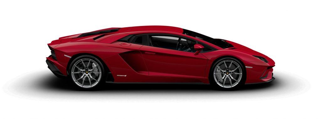 Lamborghini Aventador S Coupe Metallic Rosso Efesto Side
