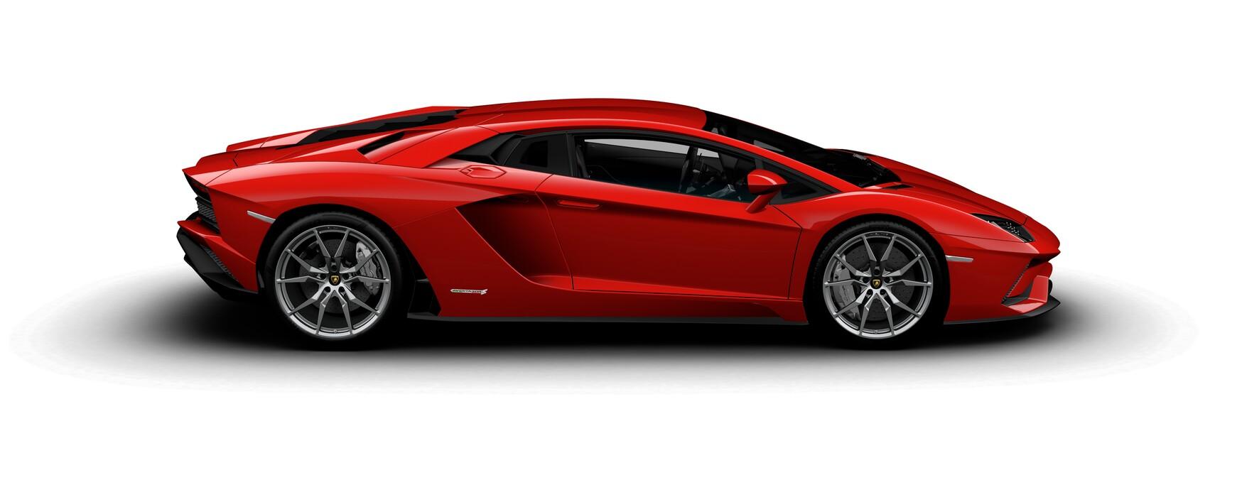 Lamborghini Aventador S Coupe metallic Rosso Mars side view