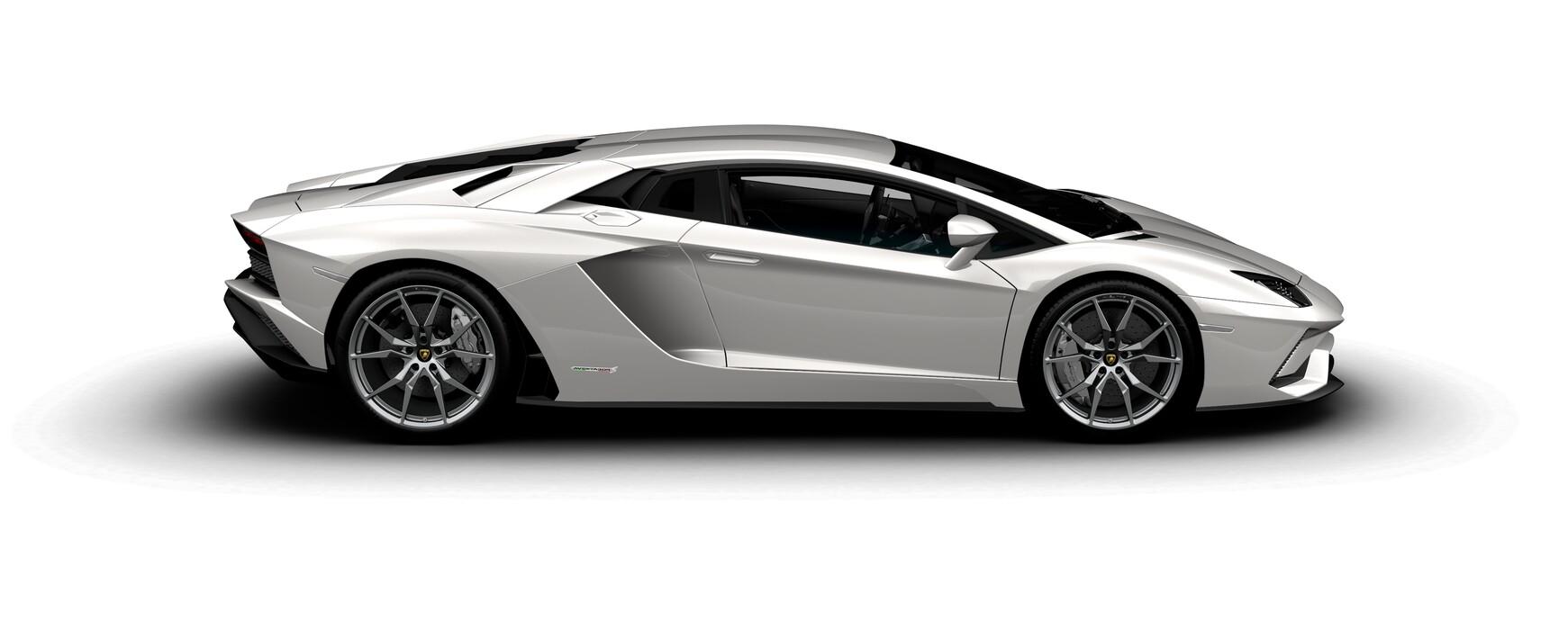 Lamborghini Aventador S Coupe pearl Balloon White side view