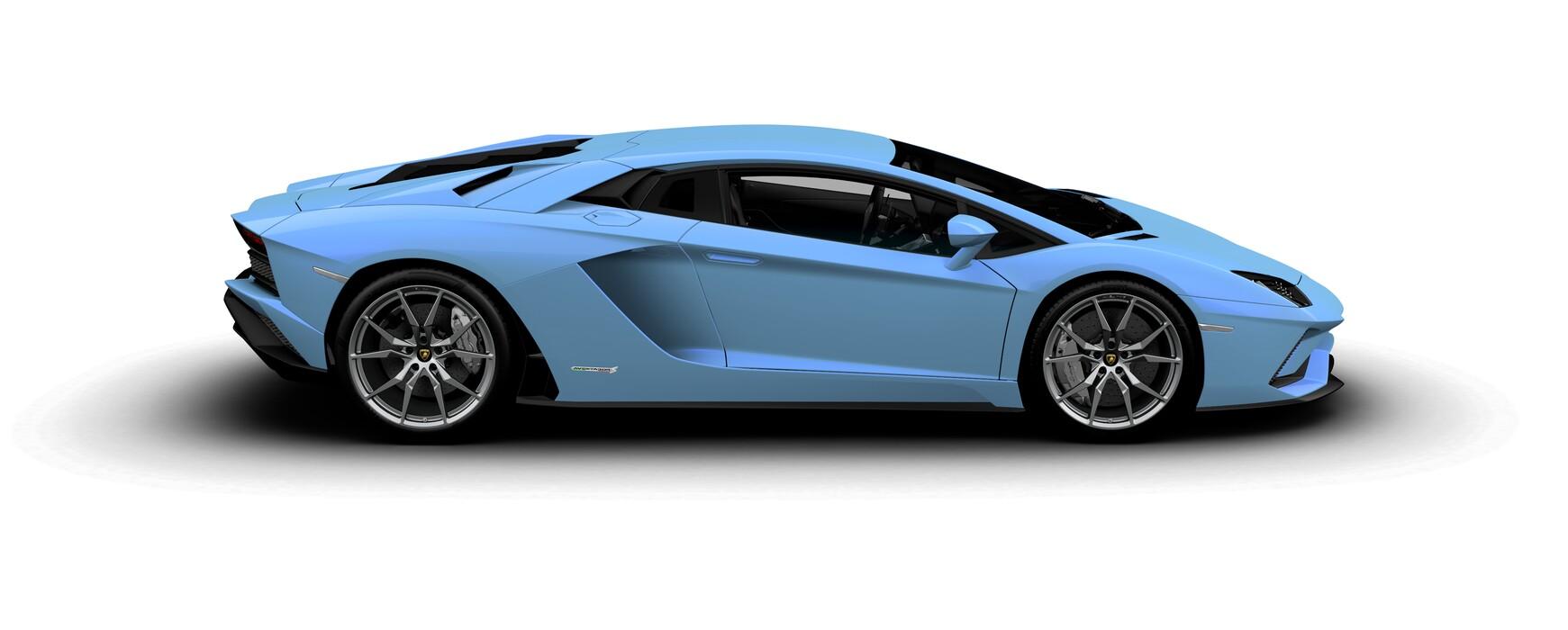 Lamborghini Aventador S Coupe pearl Blu Cepheus side view