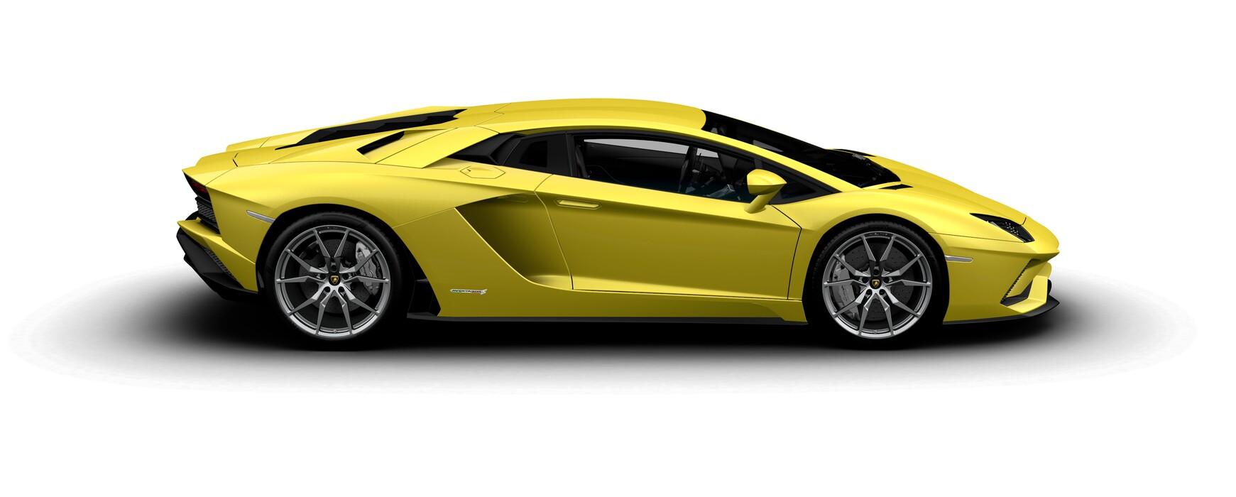 Lamborghini Aventador S Coupe pearl Giallo Tenerife side view
