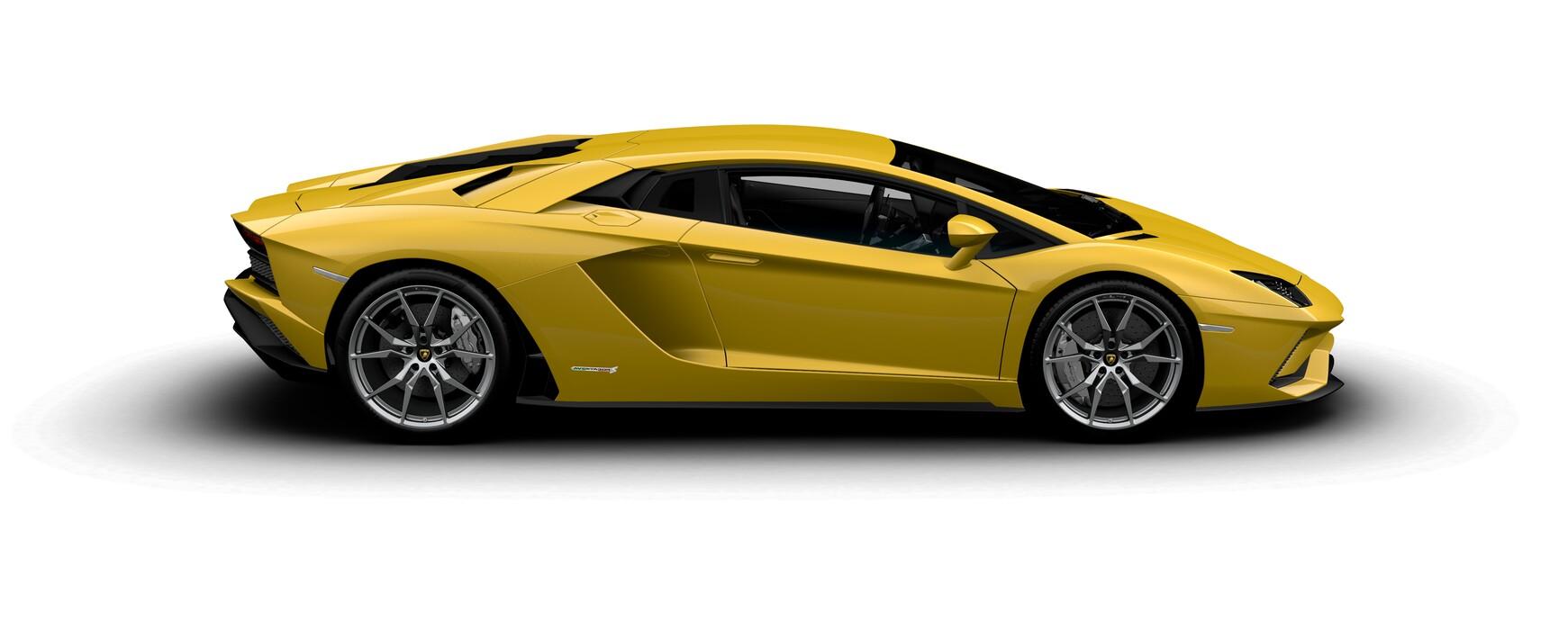 Lamborghini Aventador S Coupe pearl New Giallo Orion side view