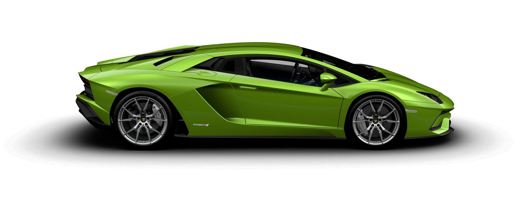 Lamborghini Aventador S Coupe pearl Verde Ithaca side view