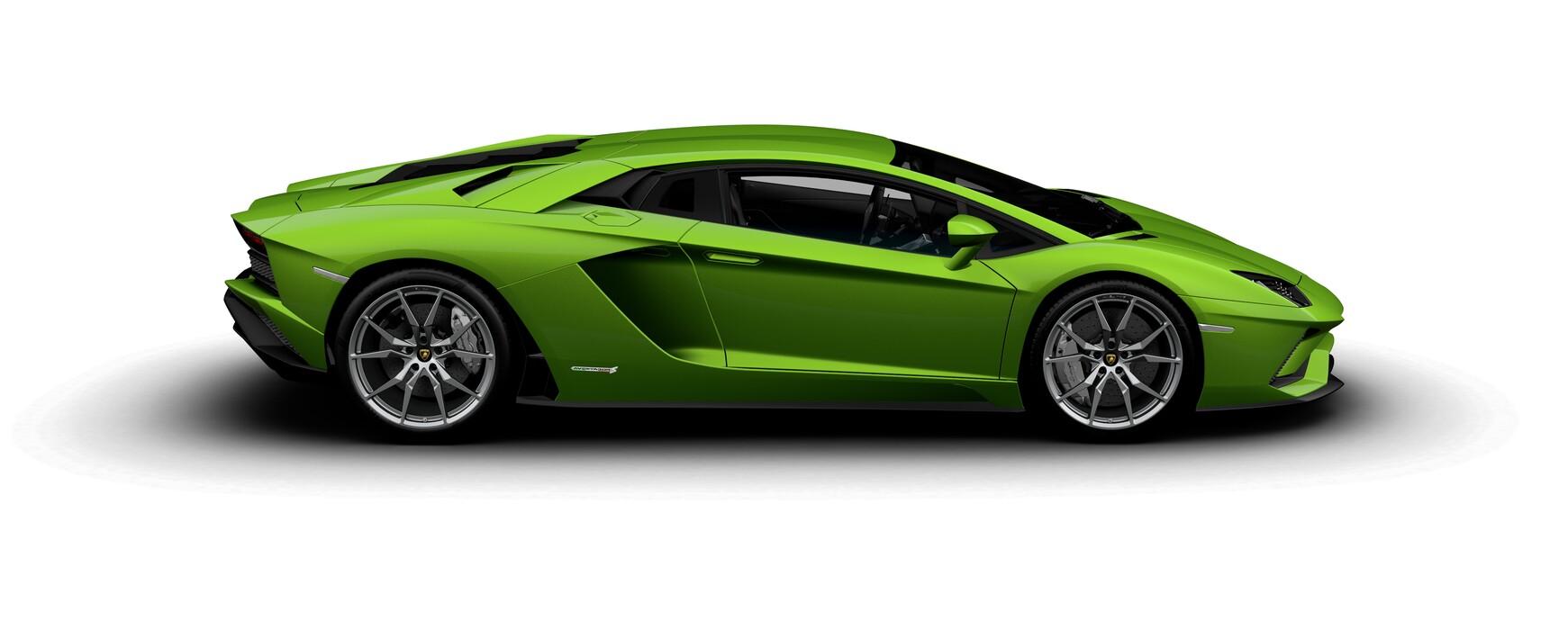 Lamborghini Aventador S Coupe pearl Verde Mantis side view