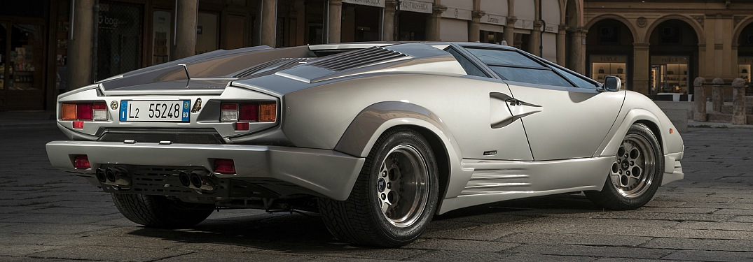 Lamborghini Countach 25th Anniversary edition silver back view