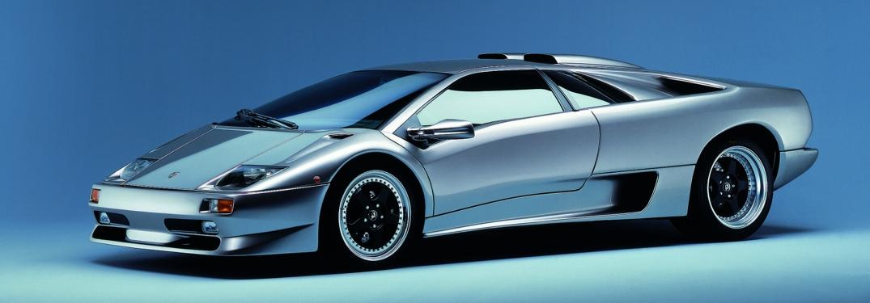 Lamborghini Diablo SV silver side view