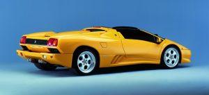 Lamborghini Diablo Vt Roadster Yellow Side Back View O Lamborghini