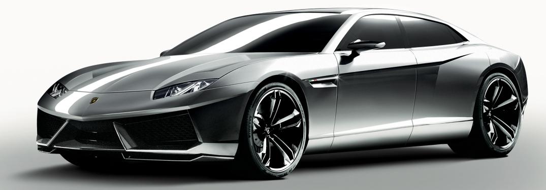 Lamborghini Estoque gray concept side view