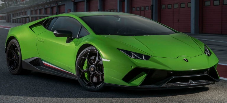 Lamborghini Huracan Performante Green Front View O Lamborghini