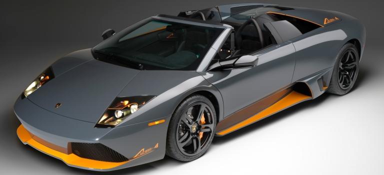Lamborghini Murcielago Gray And Orange O Lamborghini