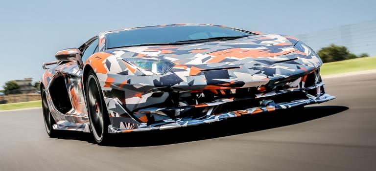 Lamborghini Aventador Svj Front View In Press Paint O Lamborghini